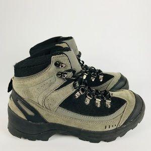 Ozark Trail Black Leather Bump Toe Hiking Boots
